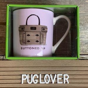 "New! KATE SPADE ♠️ Lenox Mug ""Buttoned Up"" 🎁"